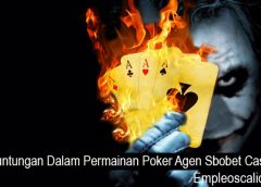 Keuntungan Dalam Permainan Poker Agen Sbobet Casino